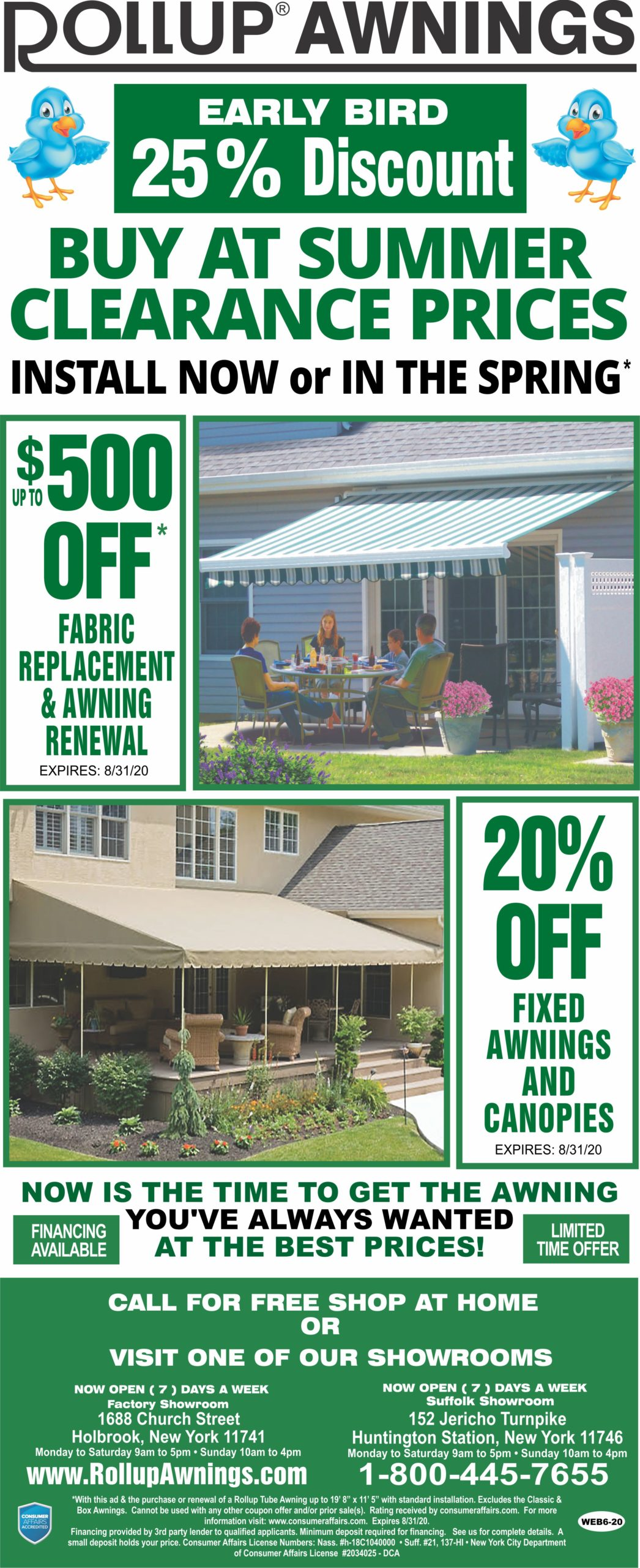 Rollup Awnings | Custom Built Awning Manufacturer | Long ...